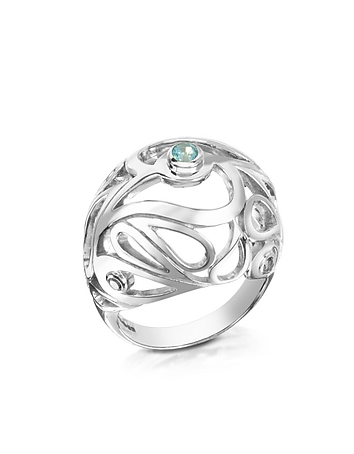 Sho London - Sterling Silver Mari Splash Boule Ring