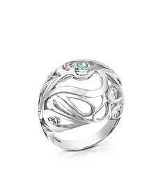 Sterling Silver Mari Splash Boule Ring - Sho London