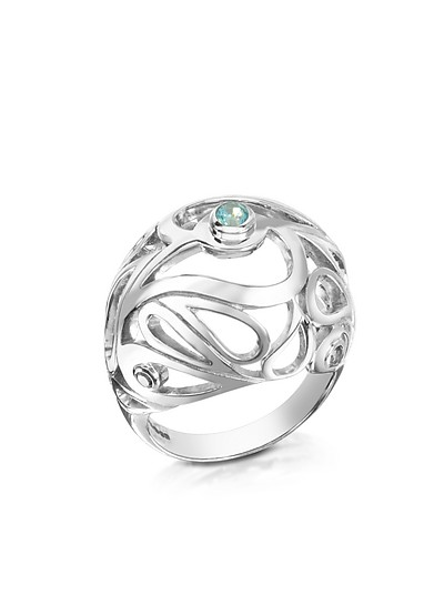Sterling Silver Mari Splash Boule Ring - Sho London