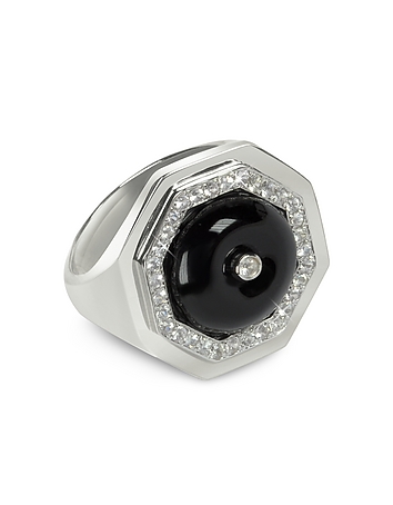 Black Agate Clementina Ring