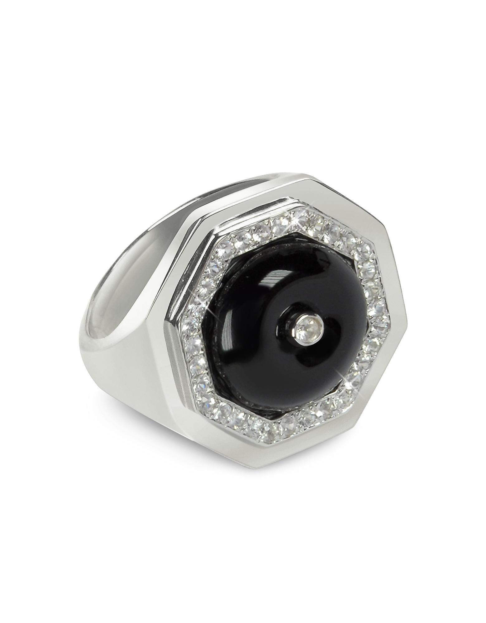 Clementina - Кольцо из Серебра с Черным Агатом