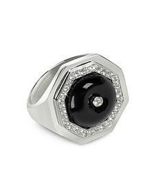 Black Agate Clementina Ring - Sho London
