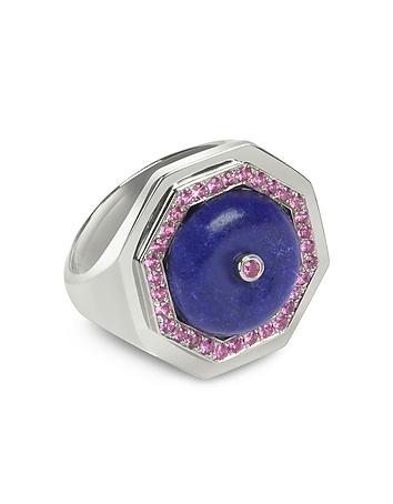 Sho London - Lapis Lazuli Clementina Ring