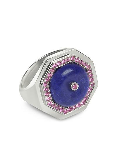 Lapis Lazuli Clementina Ring - Sho London