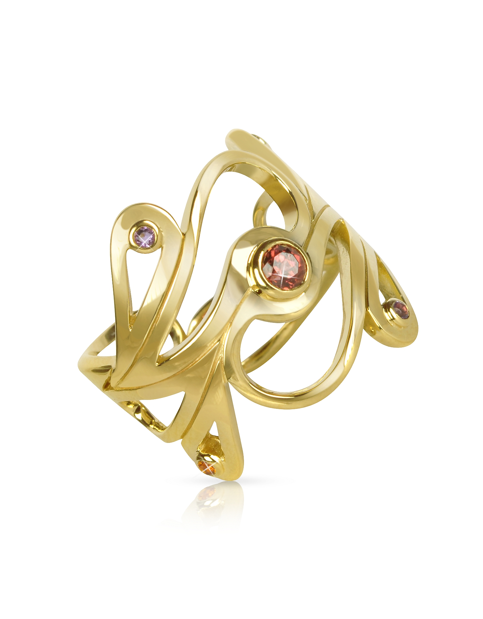 Sho London Rings, Silver Vermeil Mari Splash Ring
