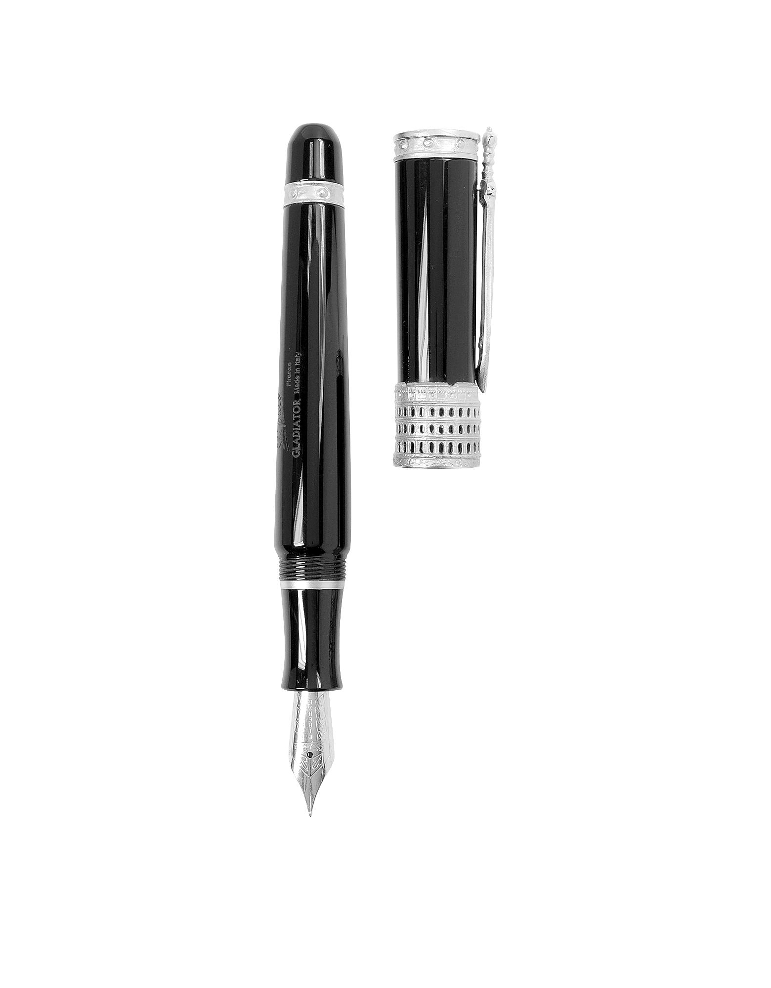 Gladiator- Черная Перьевая Ручка из Смолы