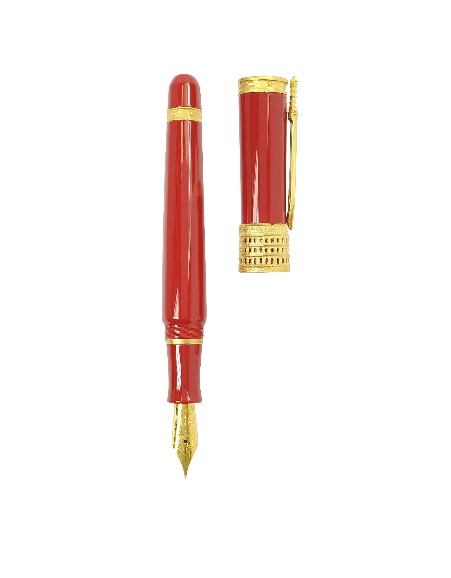 Gladiator - Красная Перьевая Ручка из Смолы