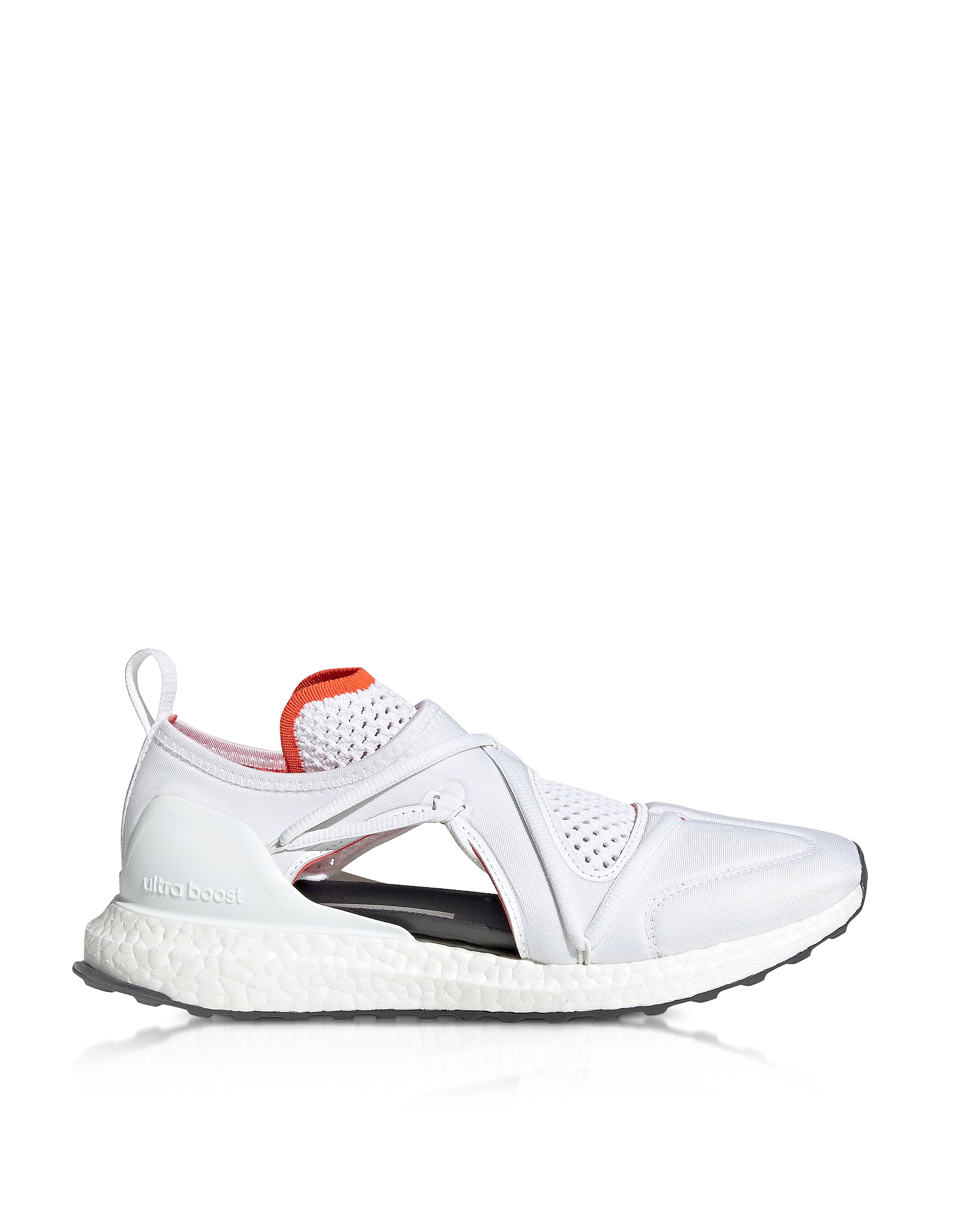 Adidas Stella McCartney Designer Shoes, Ultraboost T White Nylon Running Sneakers
