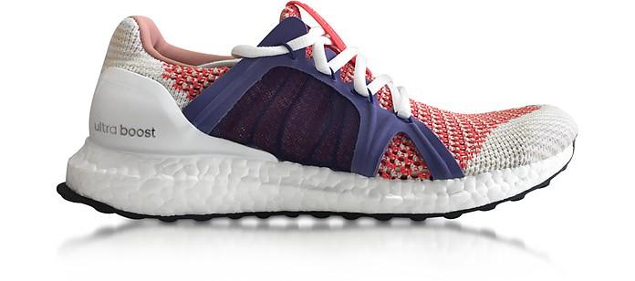 Bright Red and Plum Ultra Boost Women's Sneaker - Adidas Stella McCartney