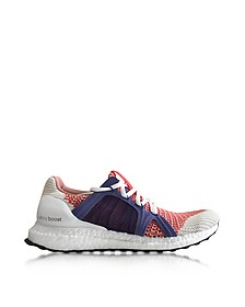 Bright Red and Plum Ultra Boost Women's Sneaker - Adidas Stella McCartney