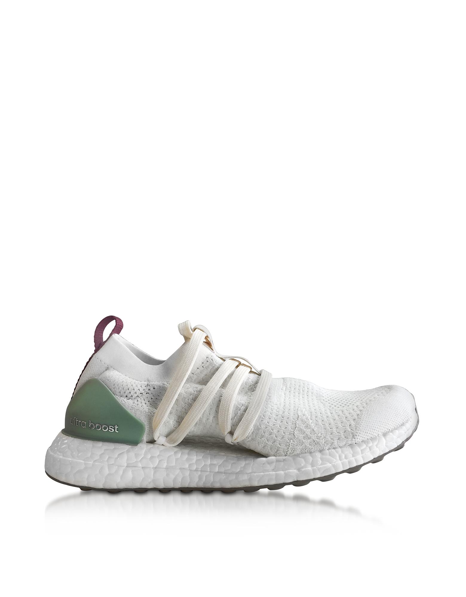 Ultra Boost X - Белые и Зеленые Женские Кроссовки