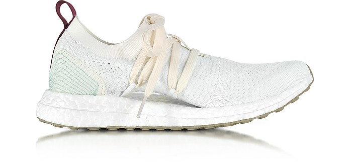 Off White and Vapour Green Parley UltraBOOST Women's Sneaker - Adidas Stella McCartney