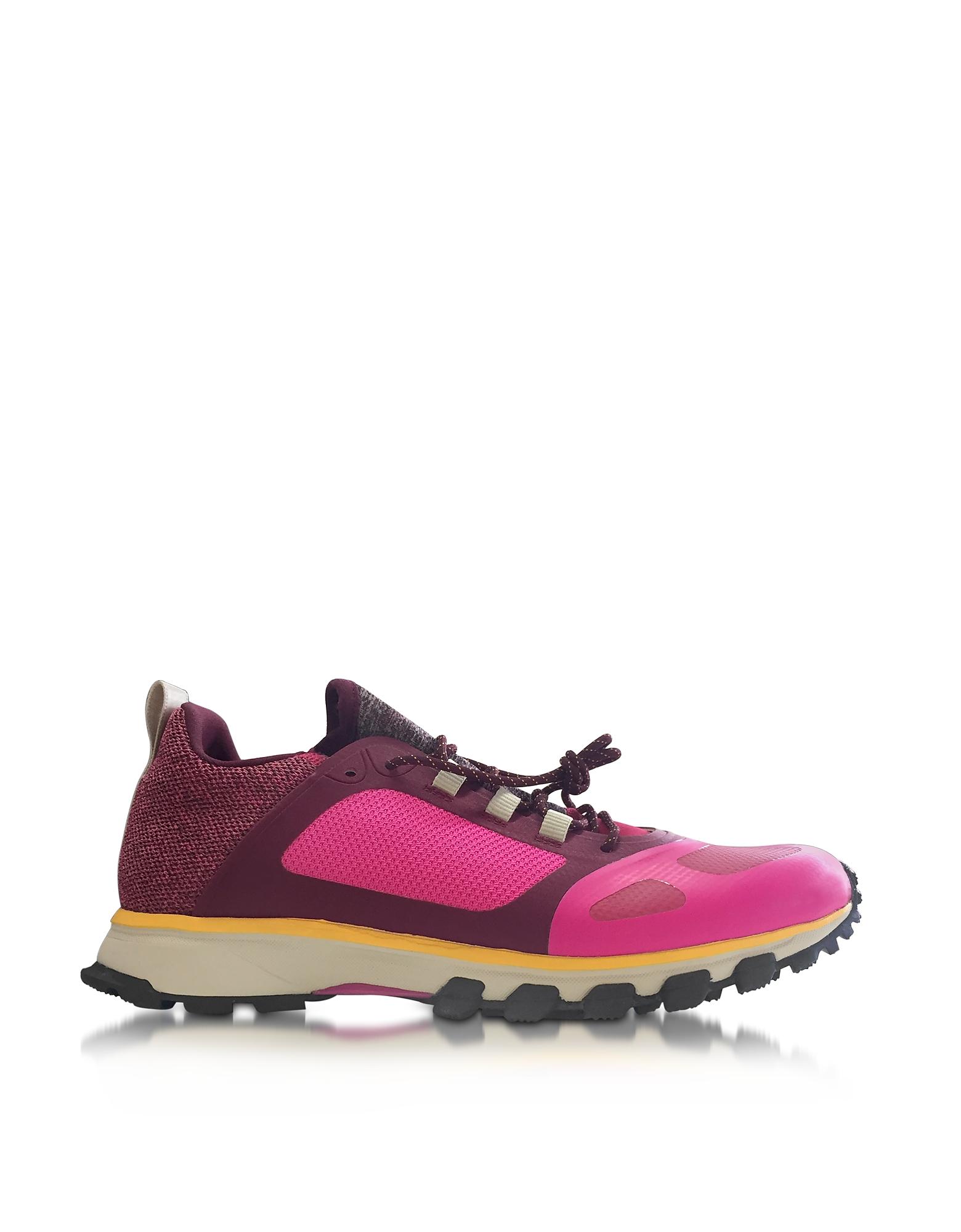 Adidas Stella McCartney Adizero XT - Ярко-Розовые и Рубиново-Красные Женские Кеды