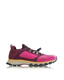 Shock pink and Ruby Red Adizero XT Women's Sneaker - Adidas Stella McCartney