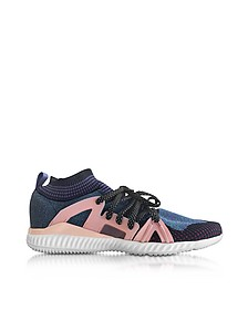 Wonder Glow Crazymove Bounce Sneaker Mid Top in Tessuto Viola e Rosa Candy - Adidas Stella McCartney