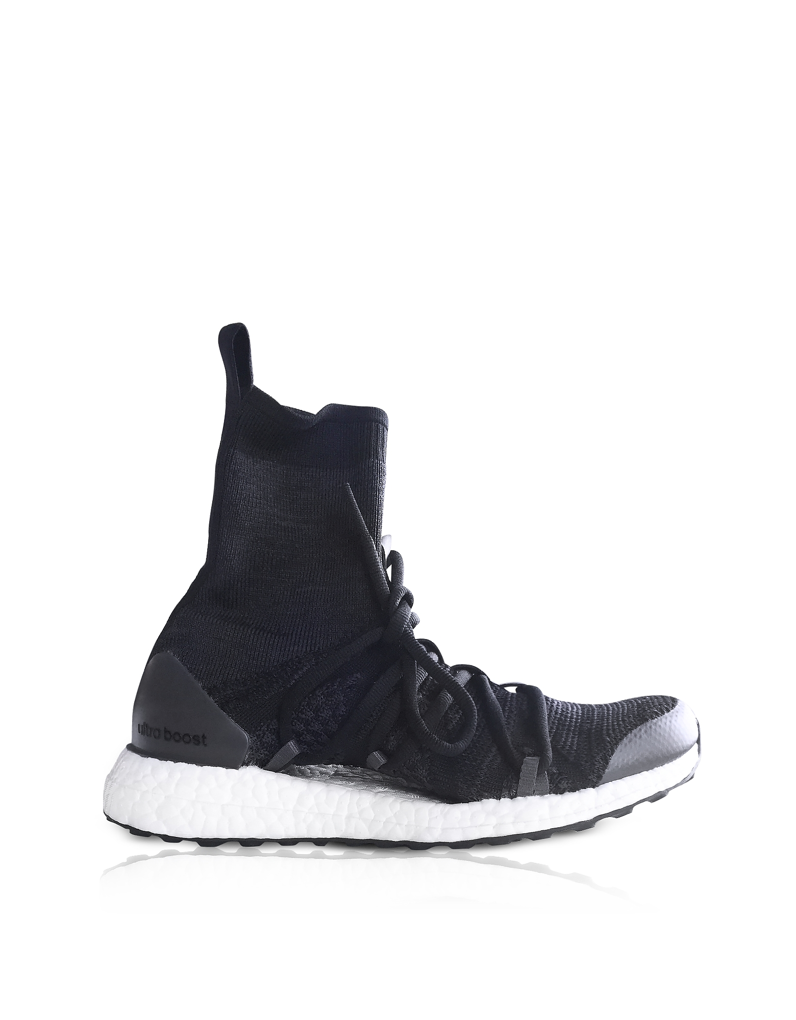 Core Black and Night Grey Ultraboost X Mid Top Trainers