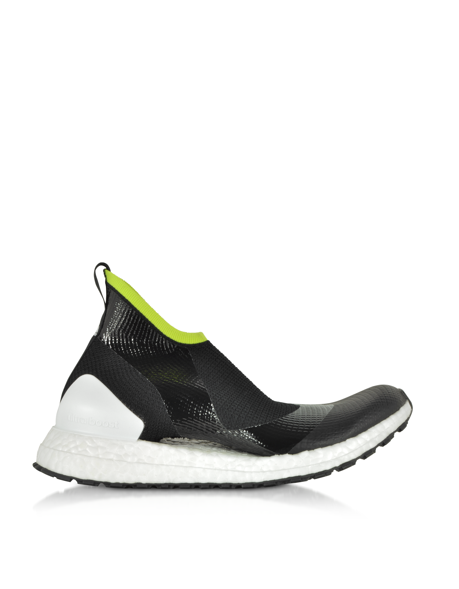 Image of UltraBOOST X ATR44 Black and Lime Women's Sneakers