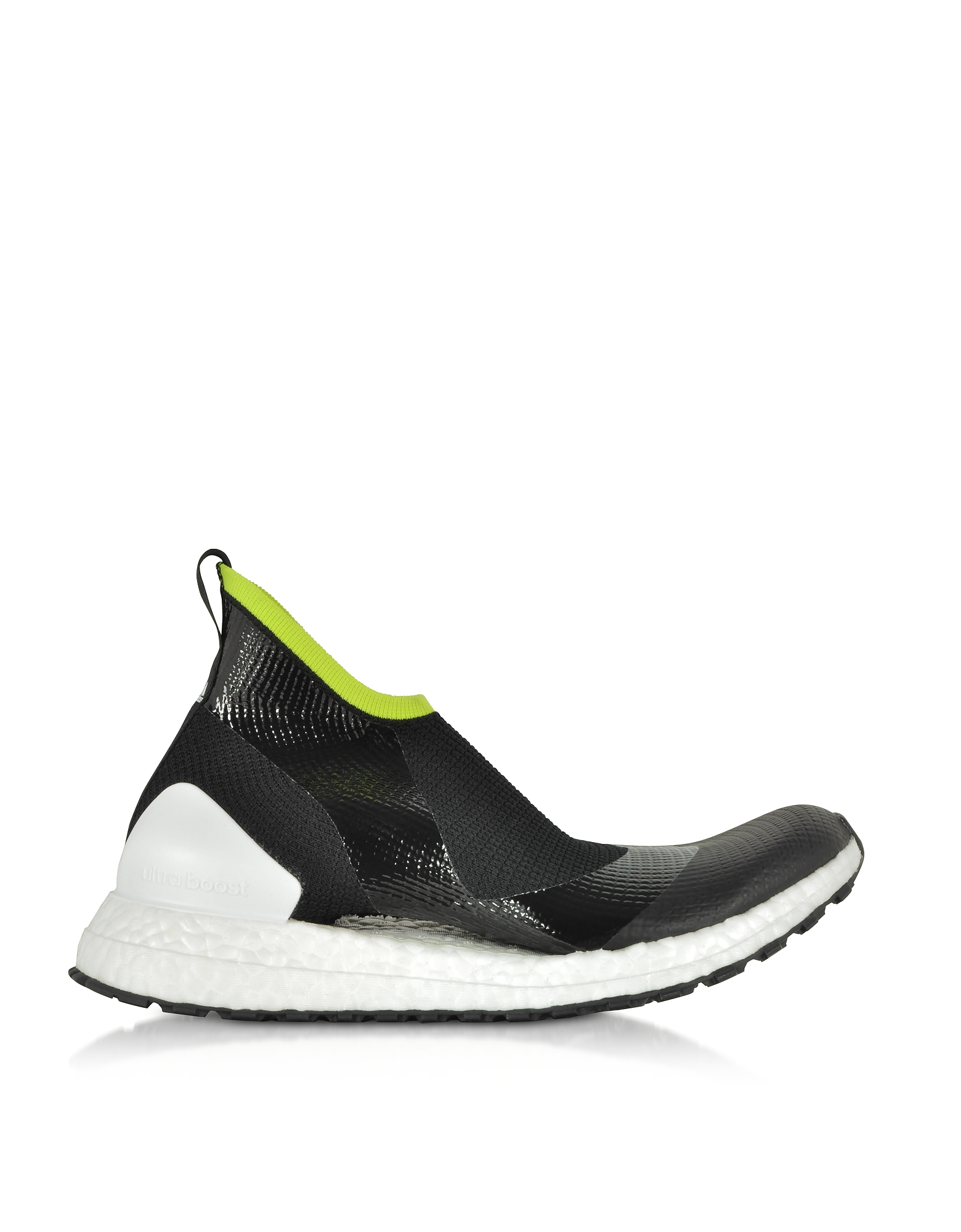Adidas Stella McCartney Designer Shoes, UltraBOOST X ATR44 Black and Lime Women