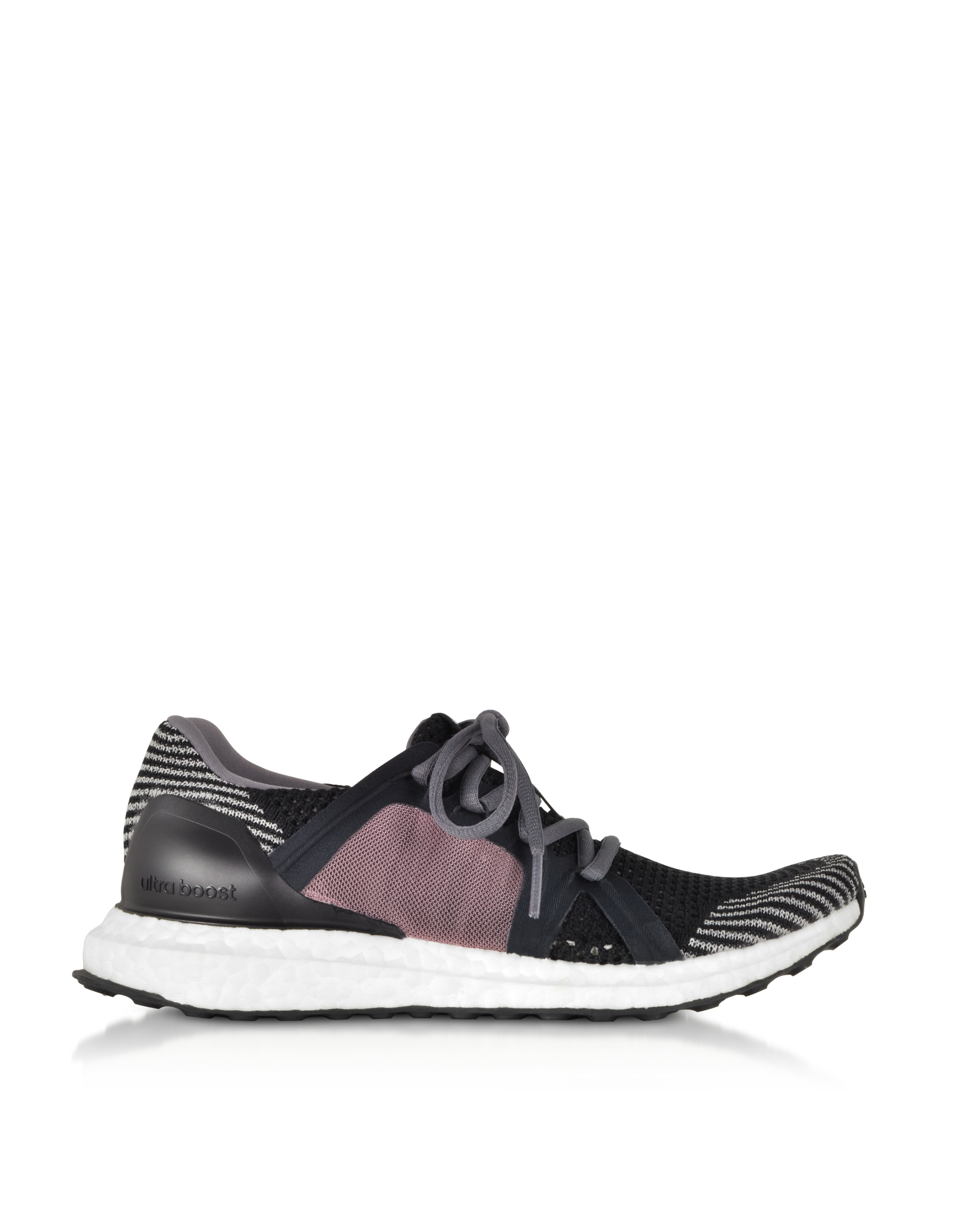 Image of UltraBOOST X Black and Smoked Pink Women's Sneakers
