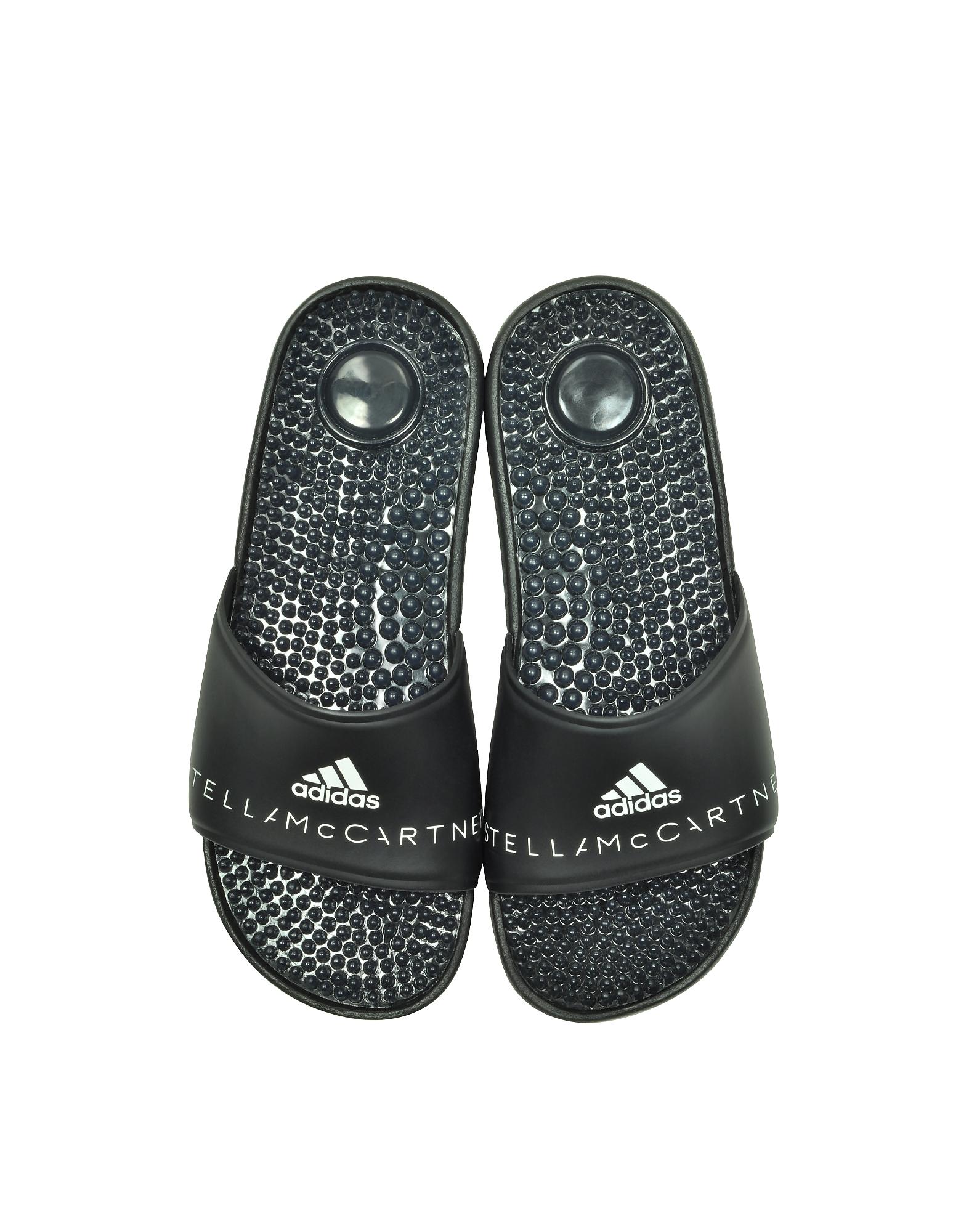 Adidas Stella McCartney Shoes, Adissage Black Slide Pool Sandals