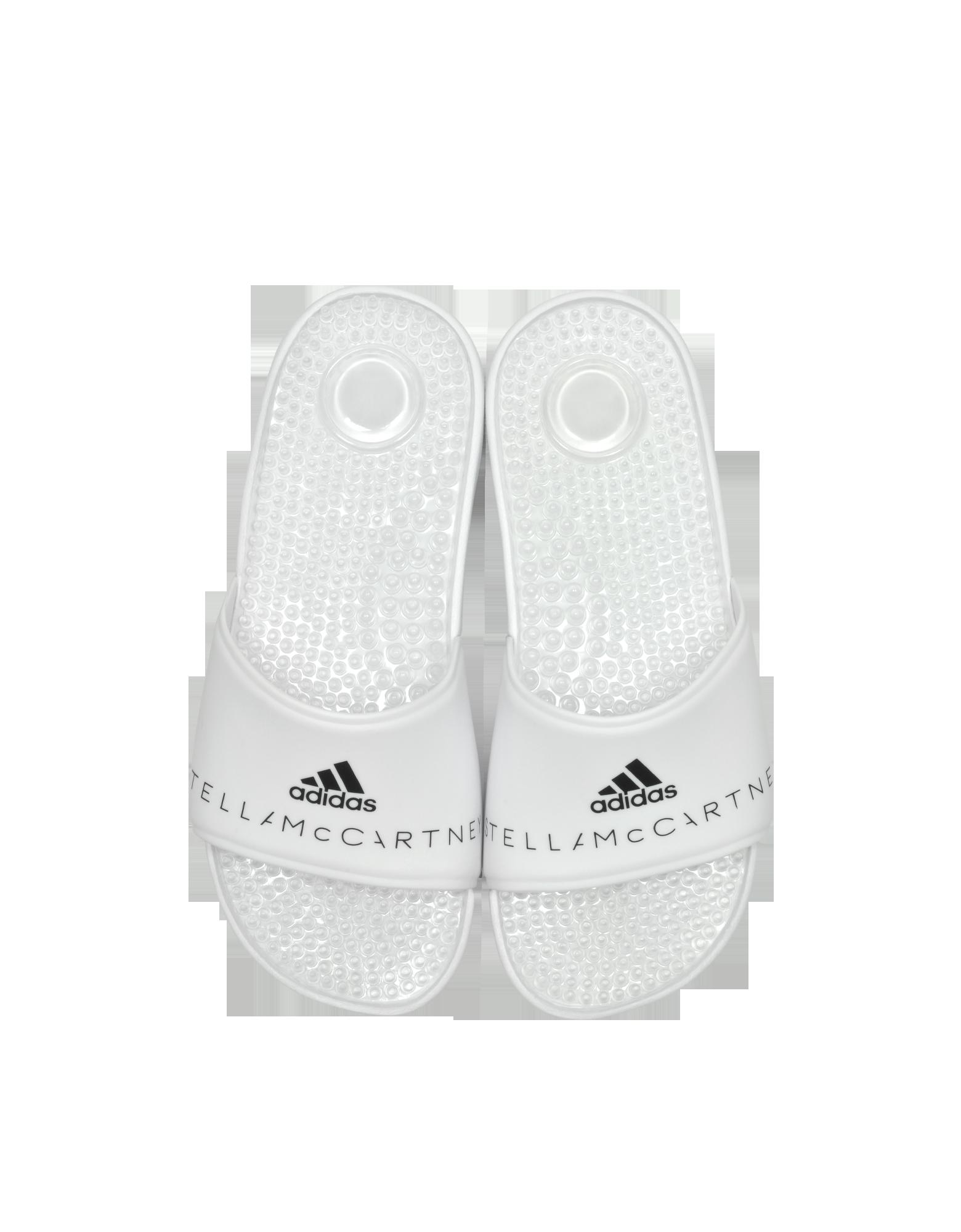 Image of Adissage White Slide Pool Sandals
