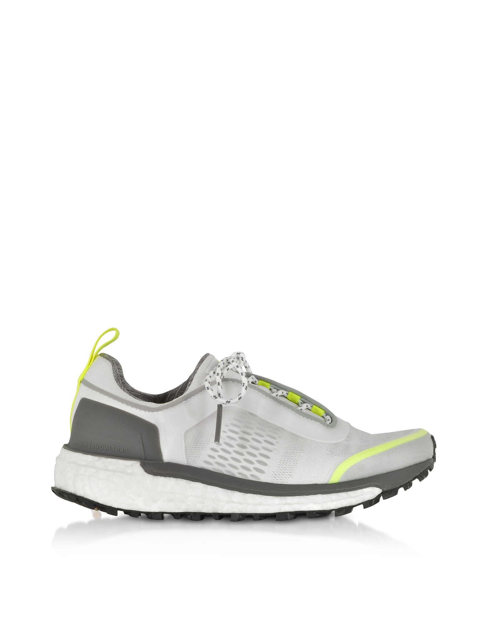 Adidas Stella McCartney Shoes, White Solar Yellow Supernova Trail Sneakers