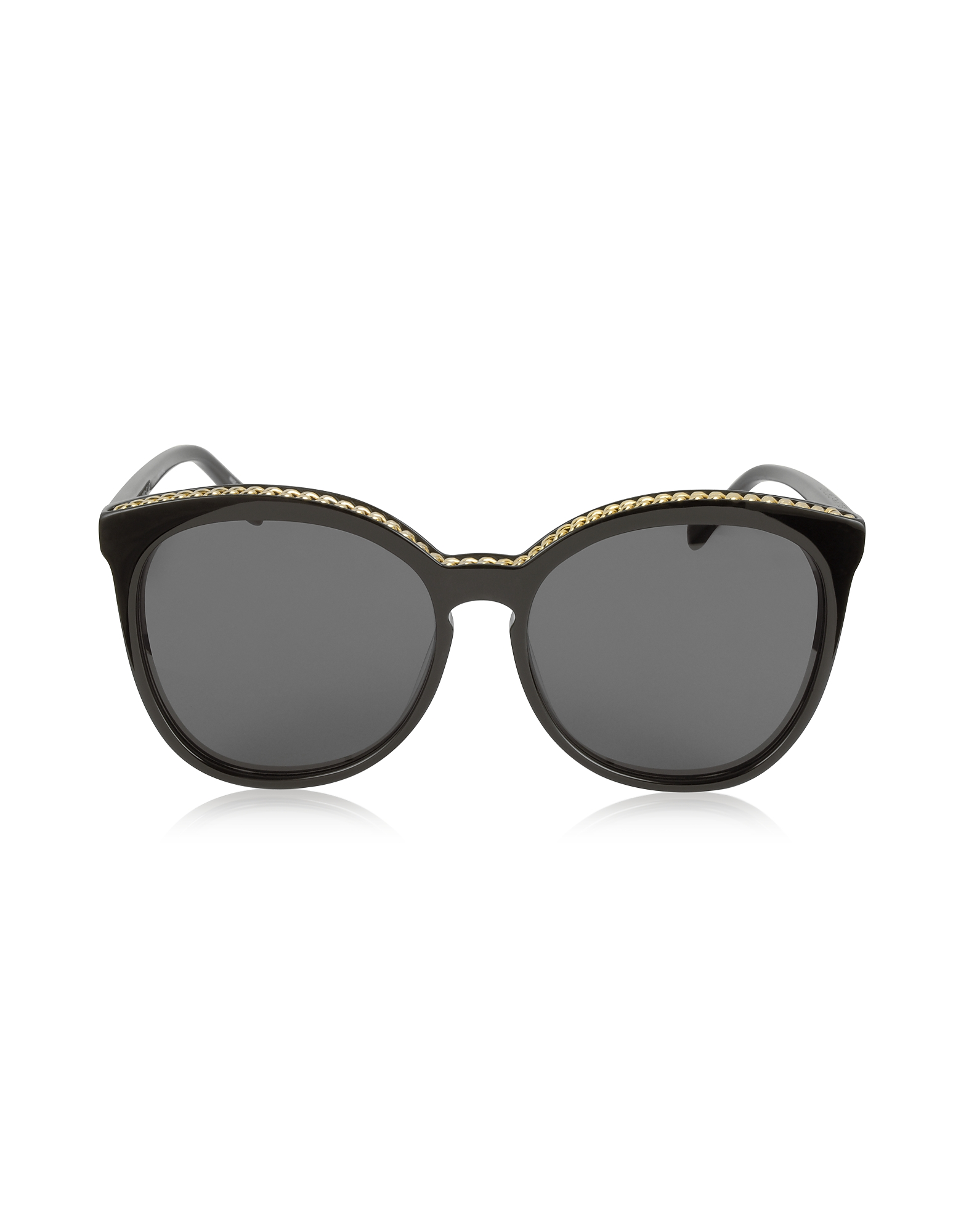Stella McCartney Sunglasses, SC0074S Acetate Cat-Eye Women's Sunglasses w/Goldtone Chain
