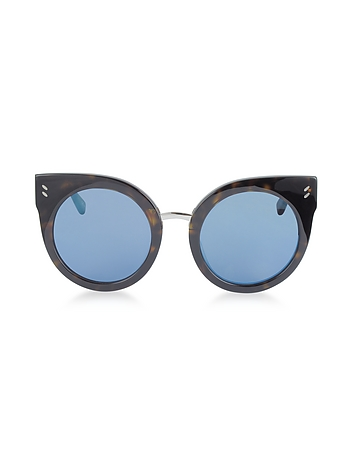 SC0036S Round Cat Eye Acetate Women's Sunglasses