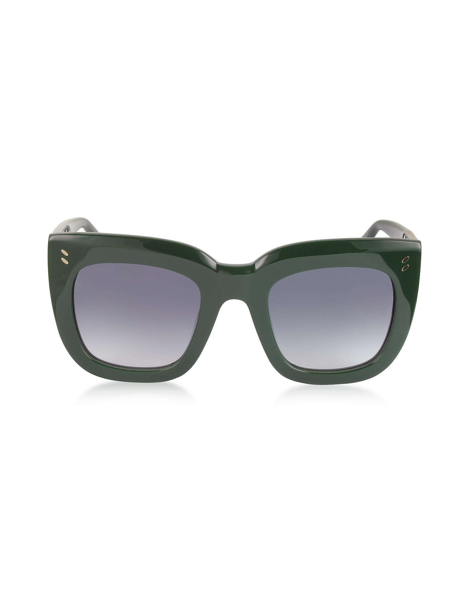 Stella McCartney Sunglasses, SC0033S Square Cat Eye Acetate Women's Sunglasses