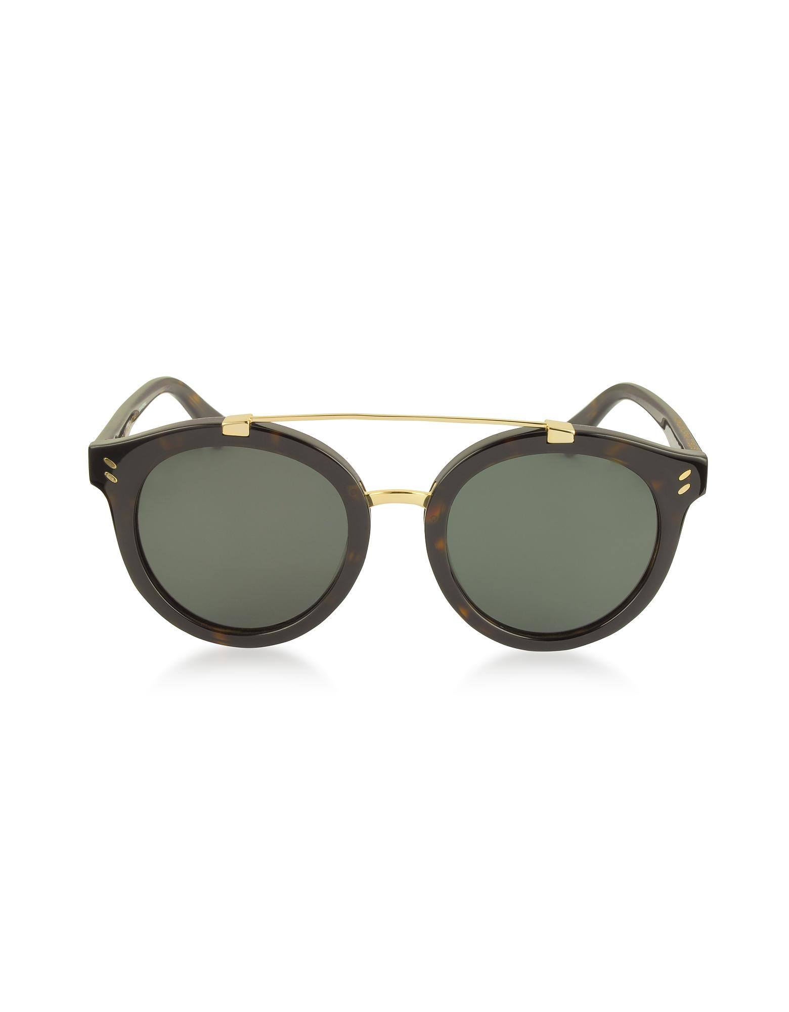 Stella McCartney Sunglasses, SC0054S Round Aviator Acetate Women's Sunglasses
