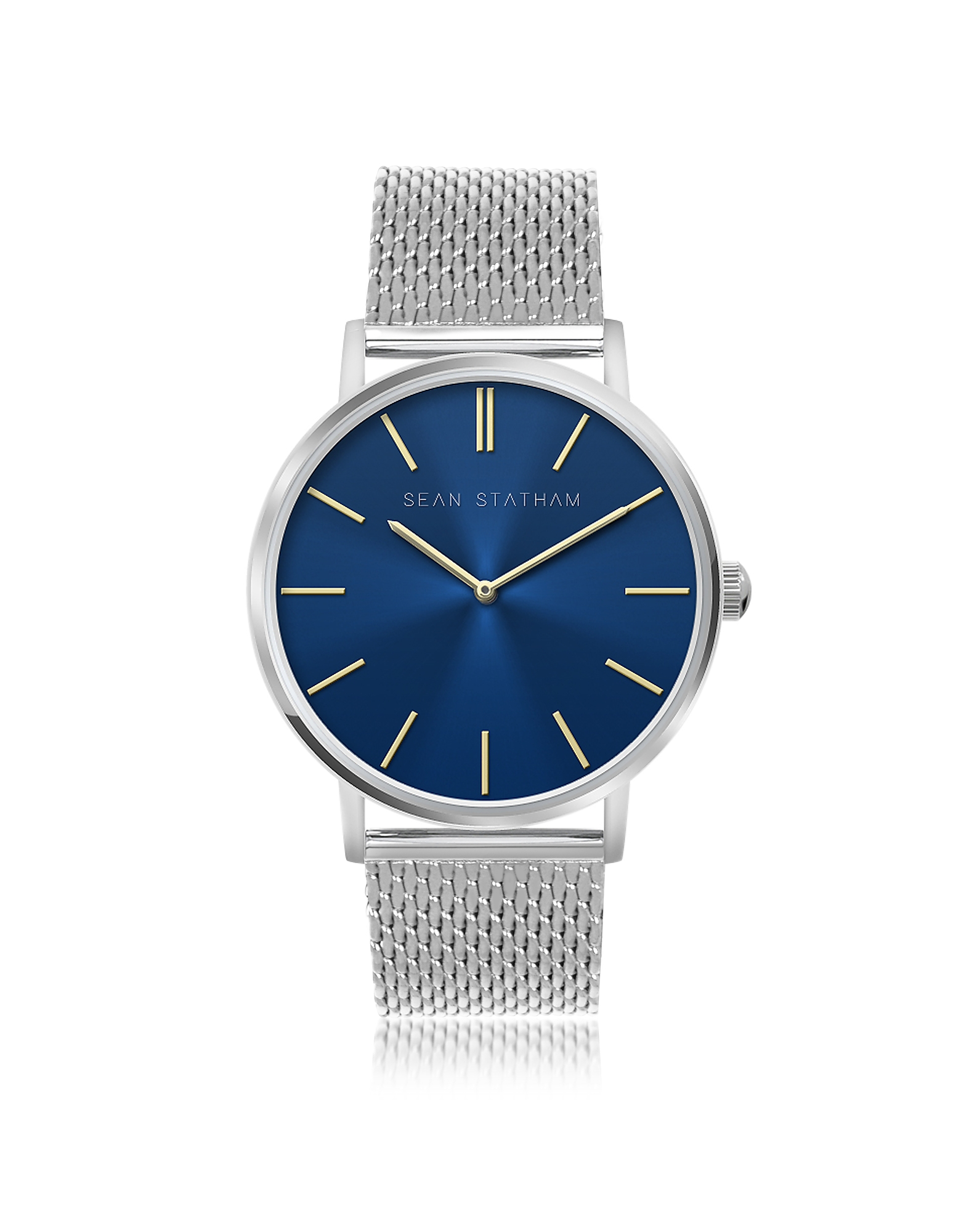 Sean Statham Women's Watches, Stainless Steel Unisex Quartz Watch w/Blue Dial