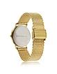 Goldtone Stainless Steel Unisex Quartz Watch w/Golden Dial - Sean Statham