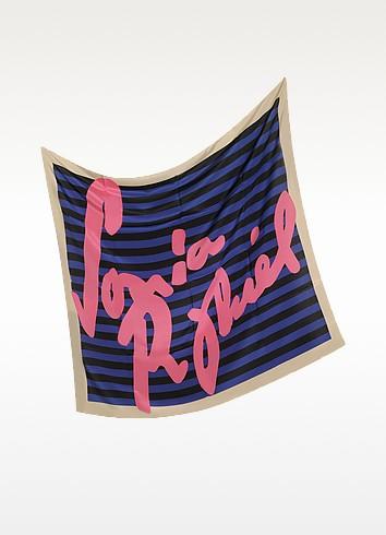 Signature Stripe Silk Square Scarf - Sonia Rykiel