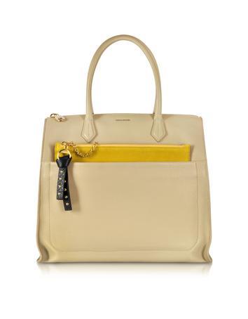 Stephane Beige Leather Handbag