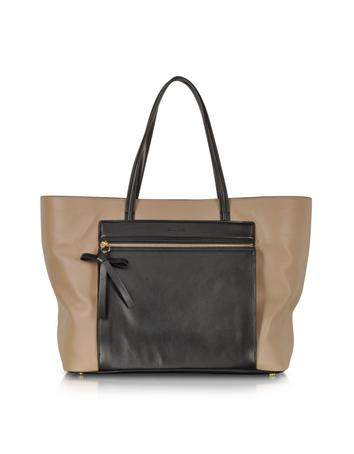 Ambroise Color Block Leather Tote