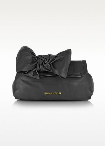 Noeud - Signature Leather Bow Flap Clutch - Sonia Rykiel