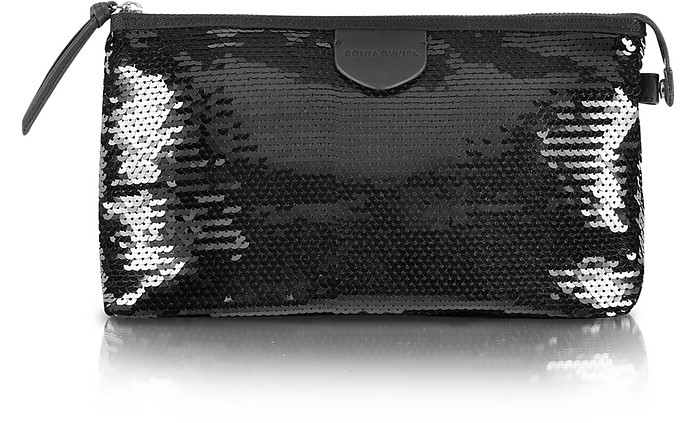 Shine - Black Sequin Beauty Case - Sonia Rykiel