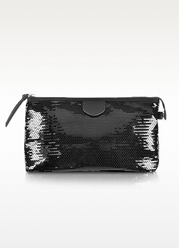 Shine - Black Sequin Beauty Case - Sonia Rykiel