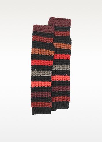 Mesh Striped Wool Fingerless Gloves - Sonia Rykiel