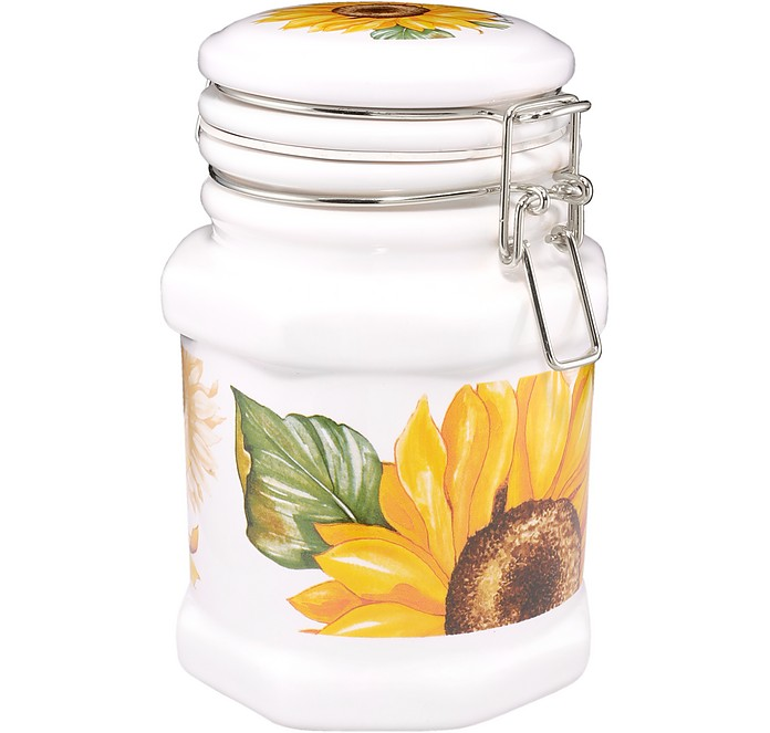 Sunflower Airtight Seal Ceramic Canister  - Spigarelli