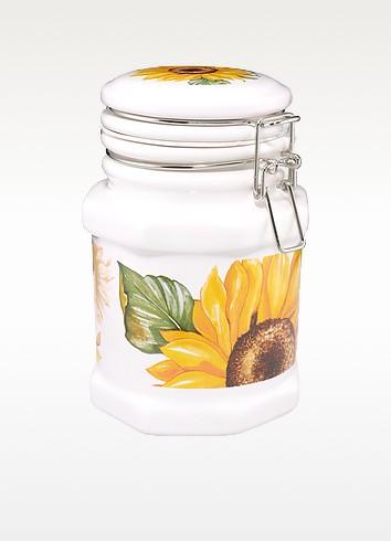 Sunflower Airtight Seal Ceramic Canister  - Spigarelli