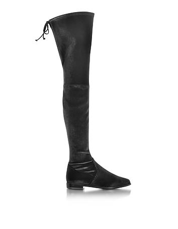 Leggylady Black Velvet Over The Knee Boot