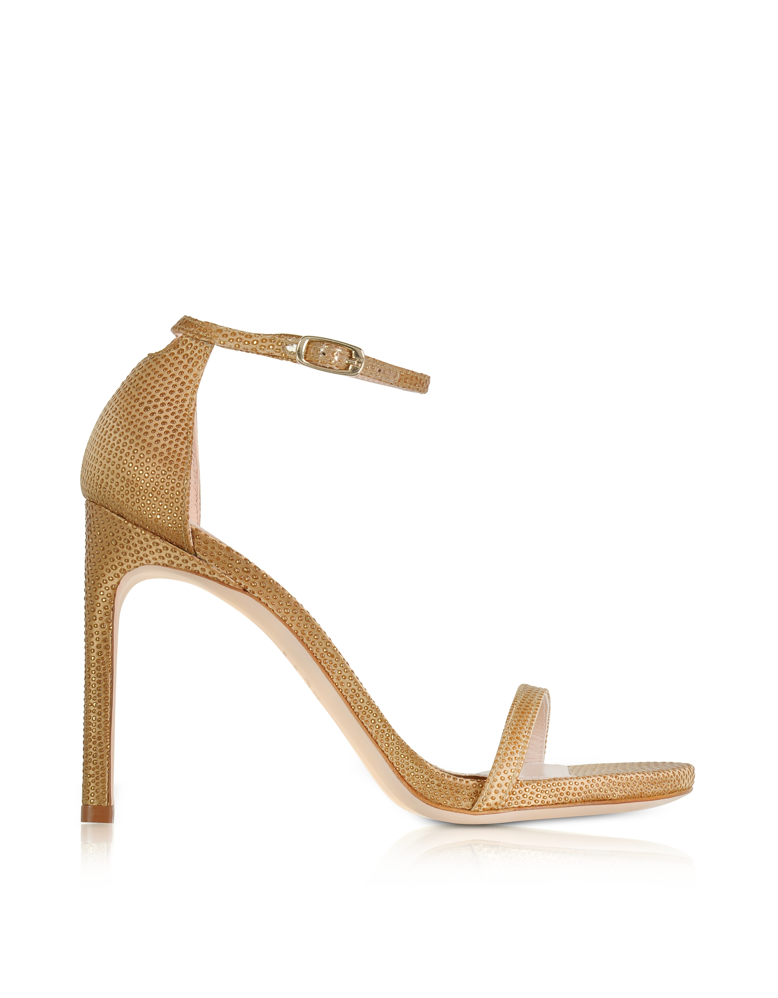 Stuart Weitzman Shoes, Nudistsong Gold Crystaline High Heel Sandals