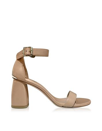 Stuart Weitzman Designer Shoes, Partlynude Nude Nappa Leather Heel Sandals sr430118-005-00
