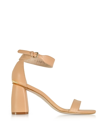 Partlynude Nude Nappa Leather Heel Sandals sr430118-005-00