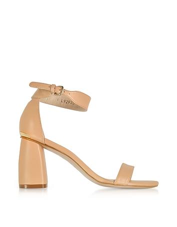 Partlynude Nude Nappa Leather Heel Sandals sr430118-005-00