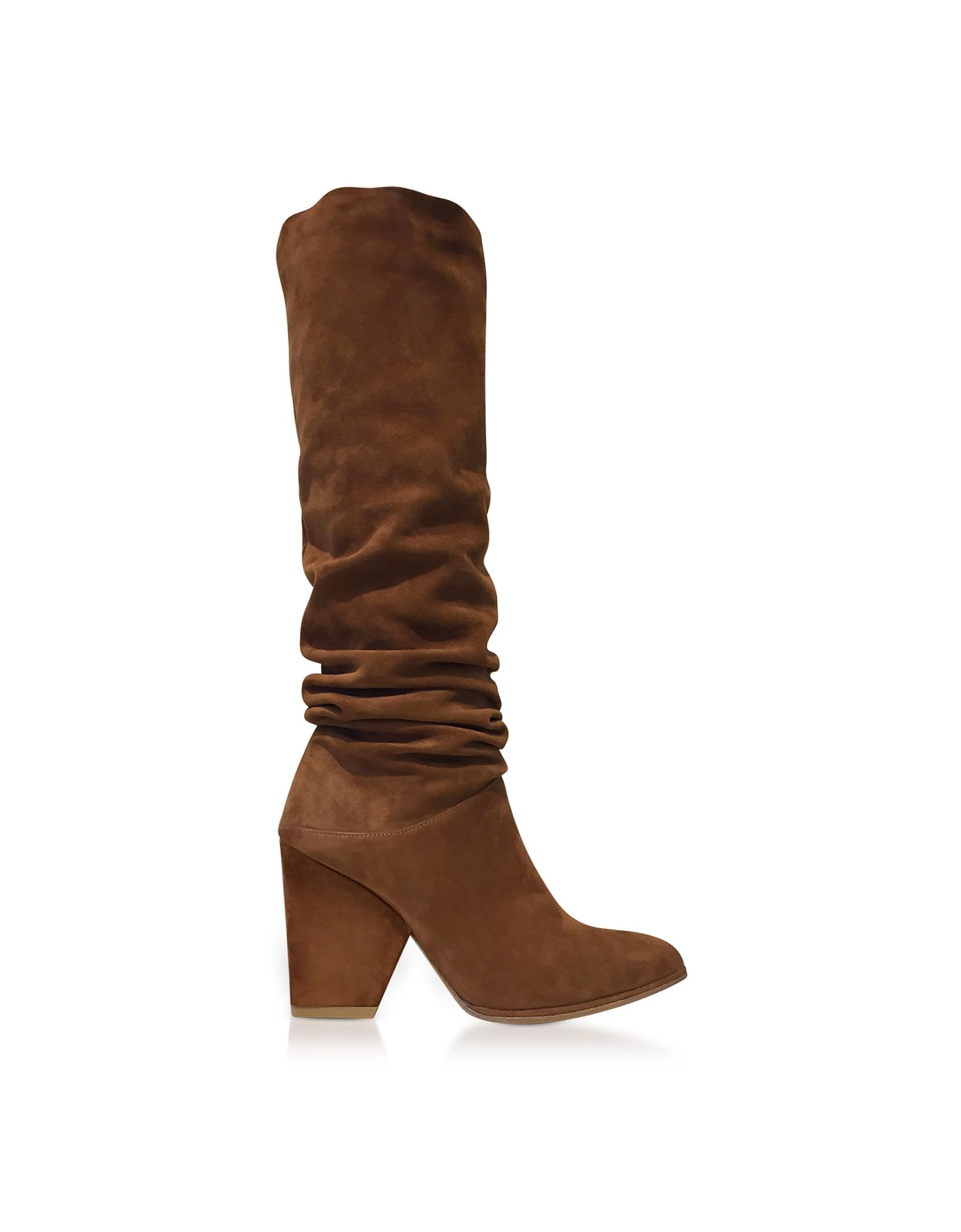 Stuart Weitzman Shoes, Smashing Amaretto Brown Suede High Heel Boots