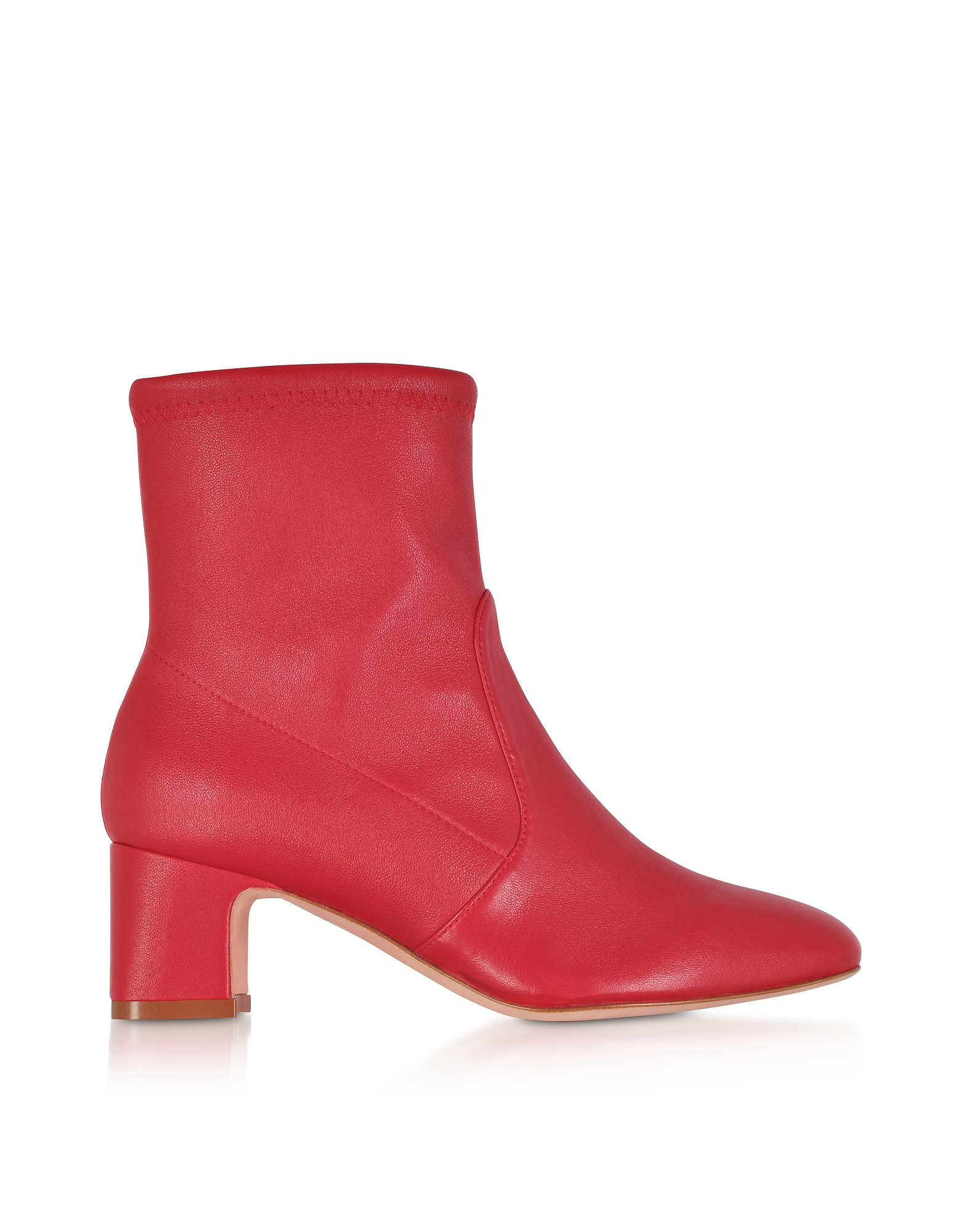 Niki 60 Red Stretch Nappa Ankle Boots