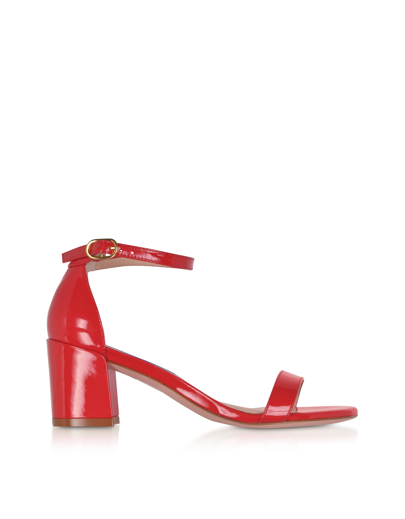 Stuart Weitzman Shoes, Simple Follow Me Red Patent Leather Sandals