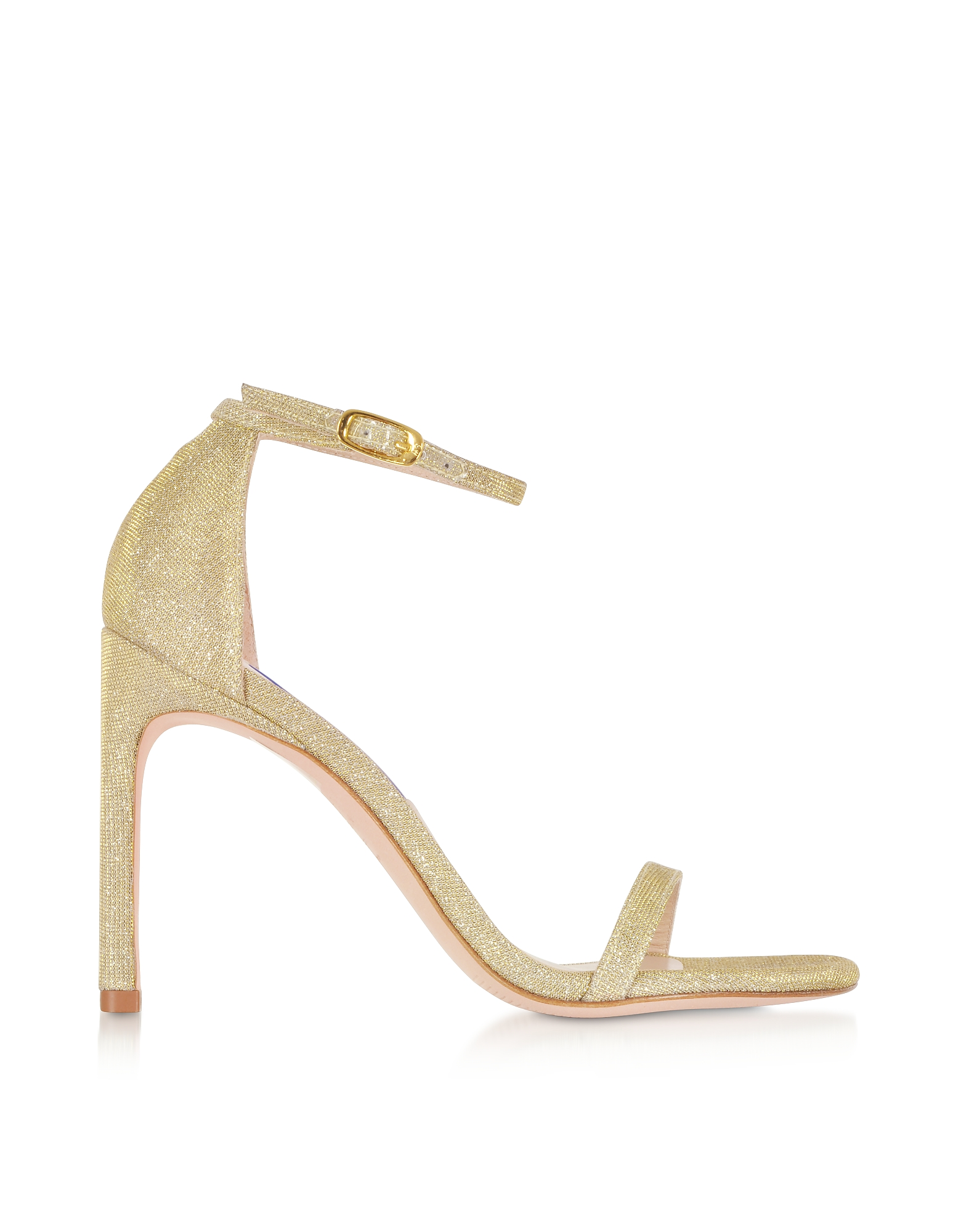 Stuart Weitzman Shoes, Platino Nighttime Nudistsong High Heel Sandals